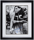 Football Collectibles:Photos, Forrest Gregg Signed Photo...
