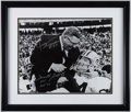 Football Collectibles:Photos, Forrest Gregg and Jerry Kramer Signed Photograph Display. ...