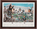 Football Collectibles:Others, Chicago Bears 75th Anniversary Limited Edition Commemorative Print....