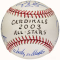 Autographs:Baseballs, 2003 St. Louis Cardinals All-Star Multi-Signed Baseball....