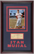 Autographs:Checks, 1943 Stan Musial Framed Signed Check...