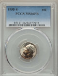 Roosevelt Dimes, 1955-S 10C MS66 Full Bands PCGS. PCGS Population: (103/11). NGCCensus: (60/22). Mintage 18,510,000. ...