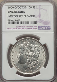 1900-O/CC $1 -- Improperly Cleaned -- Details NGC. UNC. NGC Census: (15/2297). PCGS Population: (29/5657). CDN: $300 Whs...