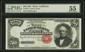 Large Size:Silver Certificates, Fr. 334 $50 1891 Silver Certificate PMG About Uncirculated 55.. ...