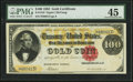 Large Size:Gold Certificates, Fr. 1210 $100 1882 Gold Certificate PMG Choice Extremely Fine 45.....