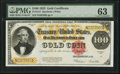 Large Size:Gold Certificates, Fr. 1215 $100 1922 Gold Certificate PMG Choice Uncirculated 63.....