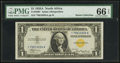 Small Size:World War II Emergency Notes, Fr. 2306* $1 1935A North Africa Silver Certificate. PMG Gem Uncirculated 66 EPQ.. ...