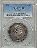 Coins of Hawaii , 1883 50C Hawaii Half Dollar XF40 PCGS. PCGS Population: (124/623).NGC Census: (55/431). CDN: $225 Whsle. Bid for problem-f...