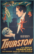 General Americana, A Color Poster Advertising the Magician Thurston. 41 x 26-1/2inches (104.1 x 67.3 cm) (sheet)...
