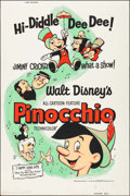"Movie Posters:Animation, Pinocchio (Buena Vista, R-1962). Silk Screen Poster (40"" X 60"").Animation.. ..."