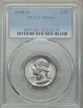 Washington Quarters, 1948-D 25C MS66+ PCGS. PCGS Population: (534/72 and 43/9+). NGC Census: (612/101 and 5/0+). CDN: $60 Whsle. Bid for problem...