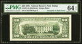 Error Notes:Third Printing on Reverse, Overprint on Back. Fr. 2075-K $20 1985 Federal Reserve Note. PMG Choice Uncirculated 64 EPQ.. ...