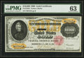 Large Size:Gold Certificates, Fr. 1225h $10,000 1900 Gold Certificate PMG Choice Uncirculated63.. ...