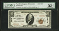 National Bank Notes:Wisconsin, Port Washington, WI - $10 1929 Ty. 2 The First NB Ch. # 9419 Serial Number 1. ...