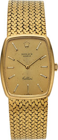 Timepieces:Wristwatch, Rolex Ref. 3807 Gent's Yellow Gold Cellini, circa 1970's. ...
