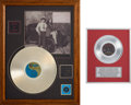 Music Memorabilia:Awards, A Connie Francis Pair of Fan-Made 'Gold Record' Awards, 1990s....(Total: 2 Items)