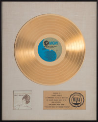 "A Connie Francis RIAA Gold Record Award for ""The Very Best of Connie Francis,"" Circa 1977"