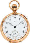 Timepieces:Pocket (pre 1900) , Waltham 14k Gold Model 72 Amn. Watch Co., circa 1883. ...