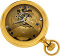 Timepieces:Pocket (post 1900), C.H. Brigden Rare 18 Size Prototype With Constant Force Escapement, circa 1918. ...