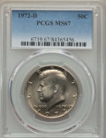 Kennedy Half Dollars, 1972-D 50C MS67 PCGS. PCGS Population: (93/0). NGC Census: (42/1).Mintage 141,890,000. ...