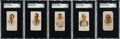 "Baseball Cards:Sets, 1887 N28 Allen & Ginter ""World's Champions"" Baseball SGC-Graded Partial Set (5/10). ..."