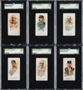 """Baseball Cards:Sets, 1888 N29 Allen & Ginter """"The World's Champions"""" Baseball Subjects Complete Set (6)...."""