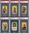 Baseball Cards:Lots, 1909-11 T206 Hindu-Brown PSA/SGC-Graded Group (7) - With ThreeSouthern Leaguers. ...