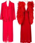 Music Memorabilia:Costumes, A Connie Francis Pair of Evening Gowns Worn to Public Events,1970s-1980s.... (Total: 2 )