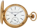 Timepieces:Pocket (pre 1900) , Elgin 21 Jewel Convertible 14k Gold Hunter's Case, circa 1878. ...