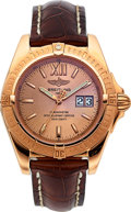 Timepieces:Wristwatch, Breitling Ref. H49350 Limited Edition Windrider Cockpit Rose Gold Chronometer. ...