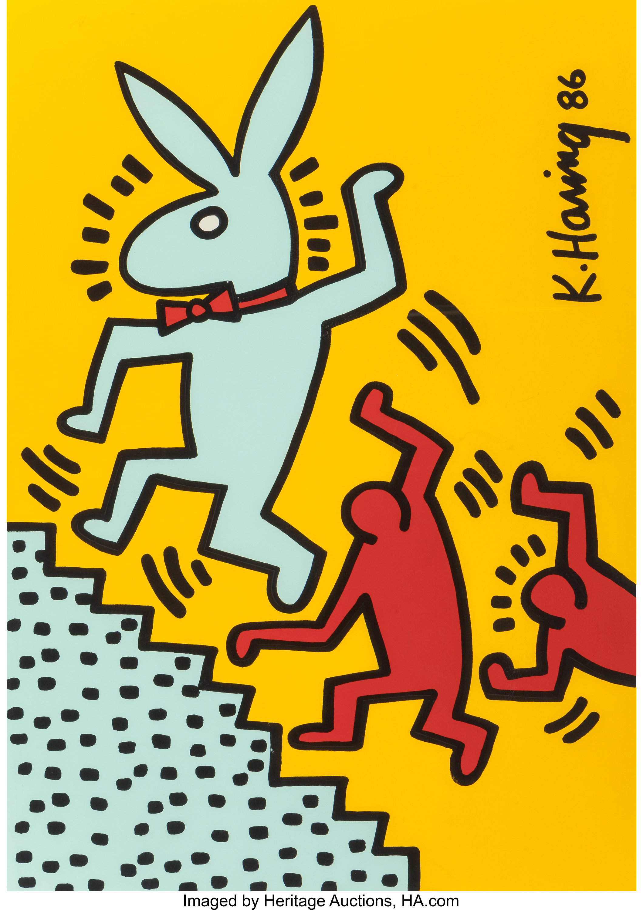 After Keith Haring . Playboy-Bunny Year, (Limited Edition Print ...