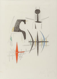 Wifredo Lam (1902-1982) Poisson, 1959 Etching in colors 11 x 7-3/4 inches (27.9 x 19.7 cm) (image