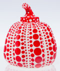 Collectible, Yayoi Kusama (b. 1929). Red Pumpkin, 2013. Painted cast vinyl. 4 x 3-1/4 x 3-1/4 inches (10.2 x 8.3 x 8.3 cm). Stamped w...