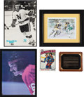 Hockey Collectibles:Photos, 1970's-90's Henry Boucha Displays Lot of 5 from The Henry BouchaCollection....