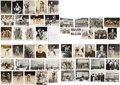 Hockey Collectibles:Photos, 1930's Original Hockey Photographs (Signed and Unsigned) from ClintSmith Collection Lot of 40+...
