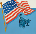 Mainstream Illustration, American Artist (20th Century). The Making of the AmericanFlag, 1994. Acrylic on board. 19.5 x 20 in.. Not signed. ...
