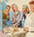 Mainstream Illustration, Joe Little (American, 20th Century). The Seventy-fifth Baby,Woman's Home Companion interior illustration, March 1941. G...