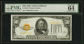 Small Size:Gold Certificates, Fr. 2404 $50 1928 Gold Certificate. PMG Choice Uncirculated 64 Great Embossing.. ...