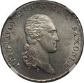 German States:Saxony, German States: Saxony. Friedrich August I as king 1/6 Taler 1806-SGH MS64 NGC,...