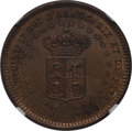 Argentina, Argentina: Patagonia. New France Pattern 2 Centavos 1874 MS64 Redand Brown NGC,...