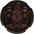 British North Borneo, British North Borneo: British Protectorate Specimen Cent 1888 SP65 Red and Brown NGC,...