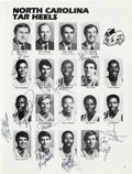 Basketball Collectibles:Programs, 1984 North Carolina Tarheels Team Signed Program, PSA/DNA Mint 9 -With Jordan!...