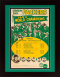 Football Collectibles:Others, 1963 Green Bay Packers Schedule Broadside Signed by Ray Nitschke....