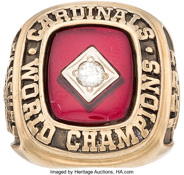 Baseball CollectiblesOthers 1982 St Louis Cardinals World Series Championship Ring Presentedto Catcher
