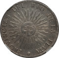 Argentina, Argentina: Republic 8 Reales 1815 PTS-F AU Details (SurfaceHairlines) NGC,...