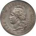 Argentina, Argentina: Republic silver Pattern Peso 1880 MS62 NGC,...