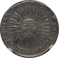 Argentina, Argentina: Republic 4 Reales 1815 PTS-F XF Details (SurfaceHairlines) NGC,...