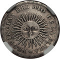 Argentina, Argentina: Republic Real 1813 PTS-J XF Details (Surface Hairlines)NGC,...
