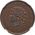 Argentina, Argentina: Republic copper Essai Centavo 1878 MS64 Red and BrownNGC,...