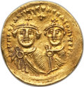 Ancients:Byzantine, Ancients: Heraclius (AD 610-641), with Heraclius Constantine. AVsolidus (4.40 gm). Choice VF....